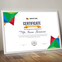 Colorful Landscape Certificate Template