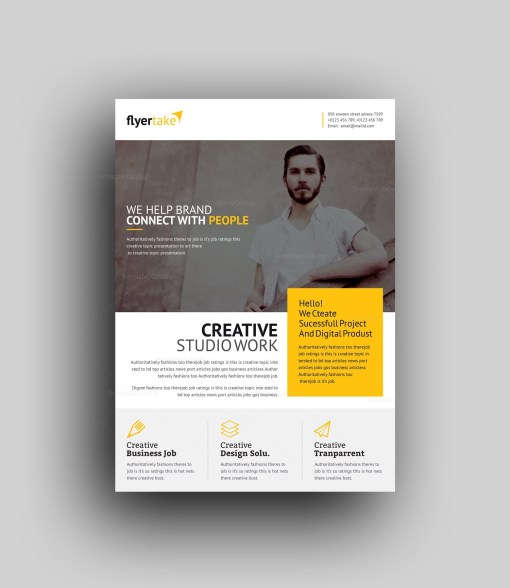 Cronus Professional Corporate Flyer Template
