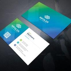 Cyan Professional Corporate Business Card Template
