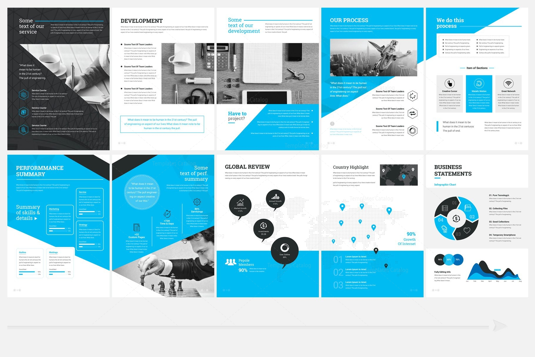 elegant professional 32 pages brochure template 000960
