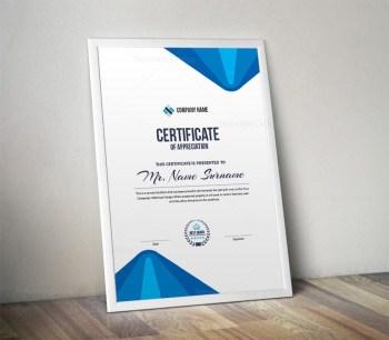 Elegant Professional Portrait Certificate Template