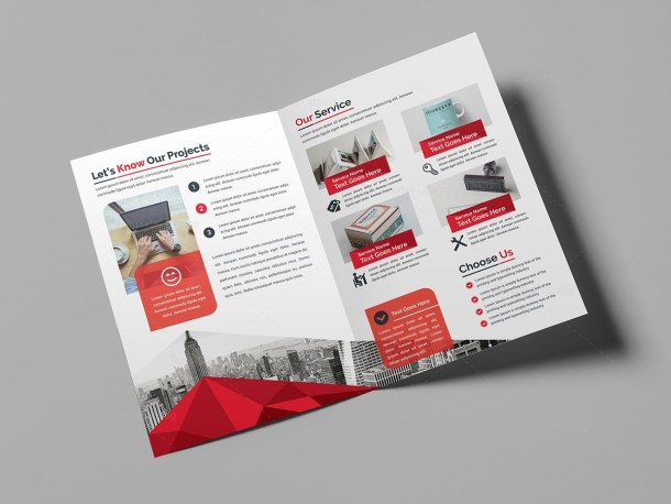 Godlike Elegant Bi-Fold Brochure Template