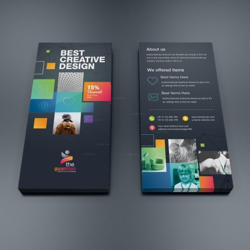 Godlike Elegant Corporate DL Flyer Template