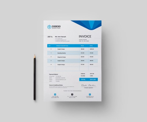 Hera Stylish Corporate Invoice Template