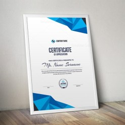 High Quality Professional Portrait Certificate Template