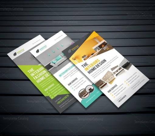 Interior Home Design Rack Card Template