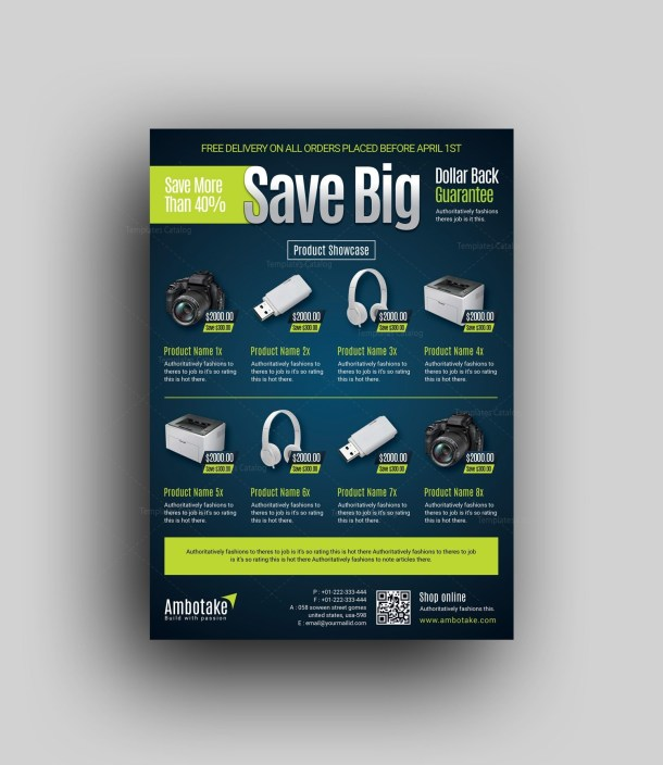 Products Professional Corporate Flyer Template