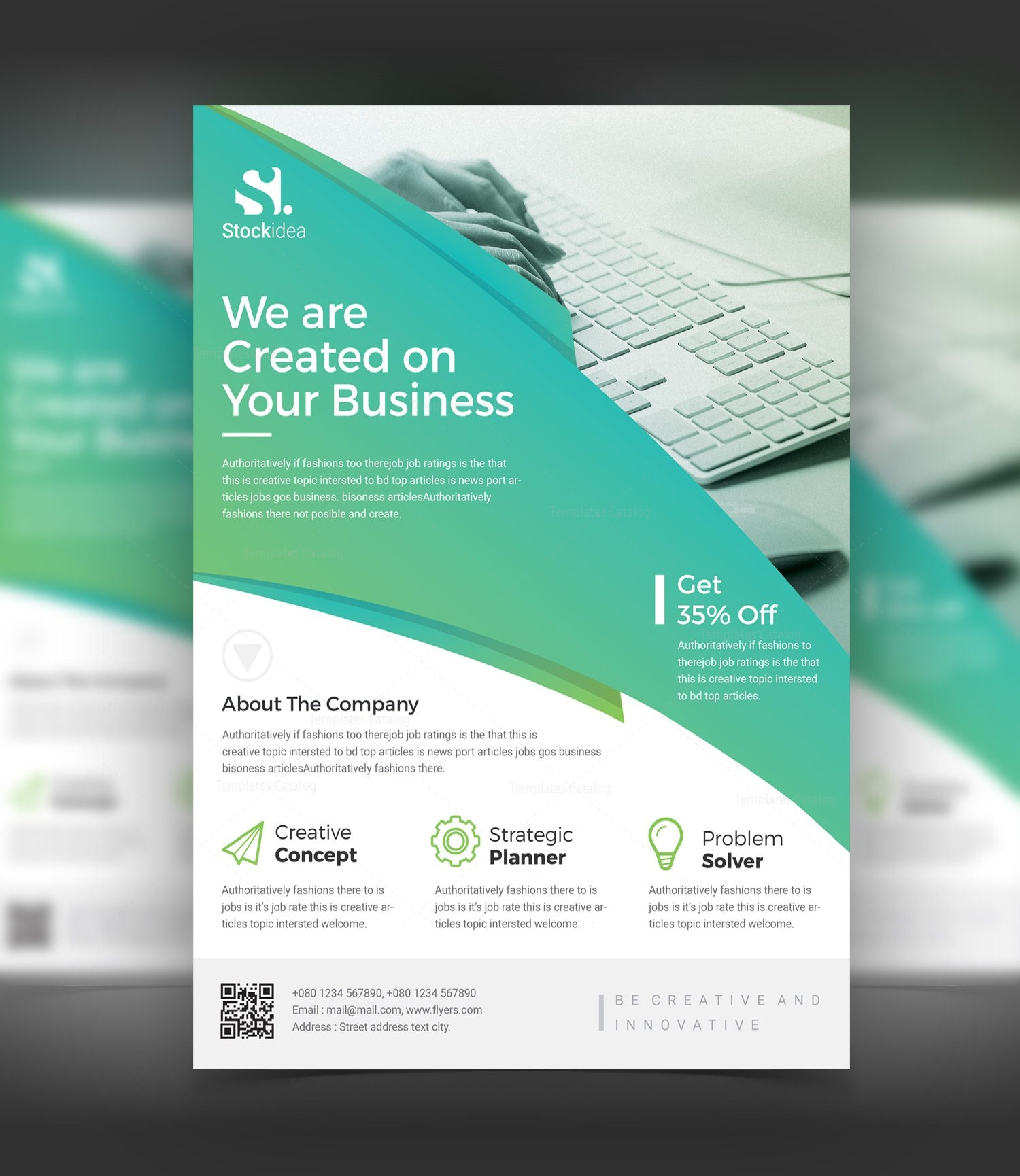 Professional Flyer Design Templates: Alexander Modern Professional Business Flyer Template