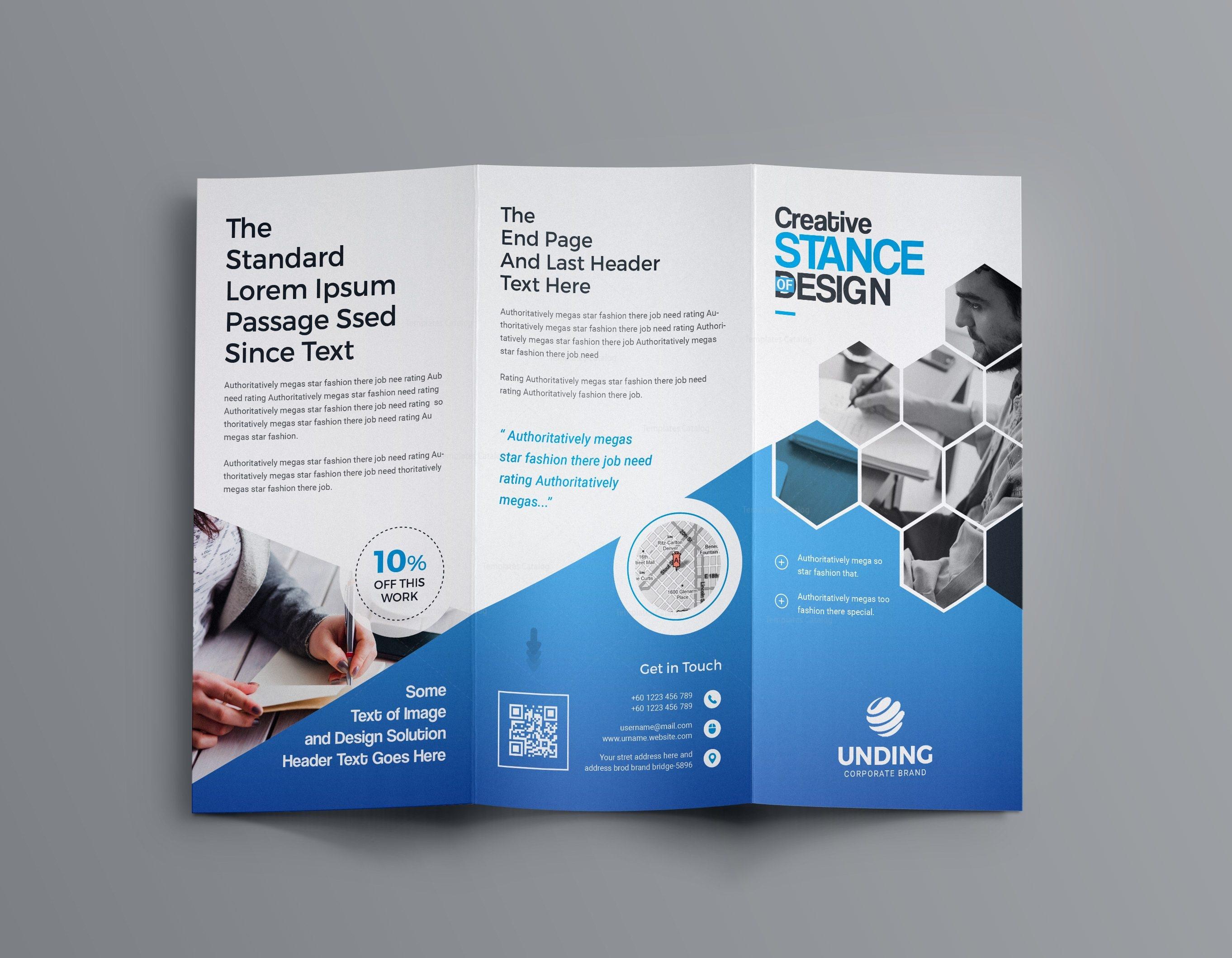 Aphrodite Business Tri-Fold Brochure Template 001201