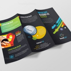 Athena Professional Corporate Tri-Fold Brochure Template