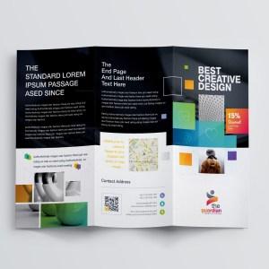 Best Creative Corporate Tri-Fold Brochure Template