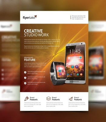 Electron Stylish Professional Corporate Flyer Template