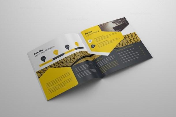 Elegant 16 Pages Square Magazine Template