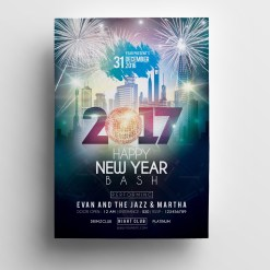 Elegant New Year Party Flyer Template