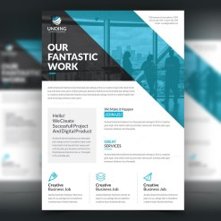 Fantastic Modern Stylish Business Flyer Template