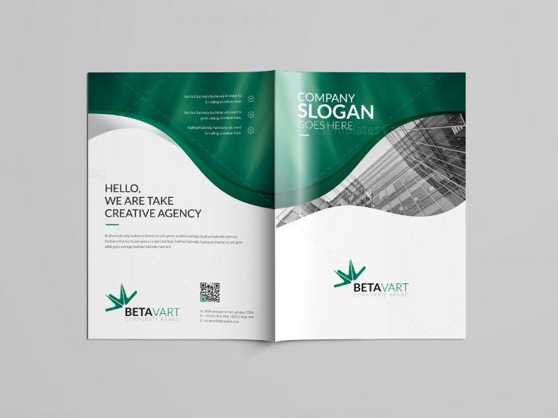 Halley Professional Bi-Fold Brochure Template