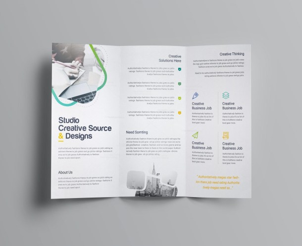Logic Professional Corporate Tri-Fold Brochure Template