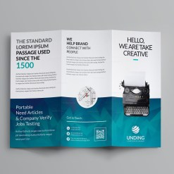Ocean Corporate Tri-Fold Brochure Template