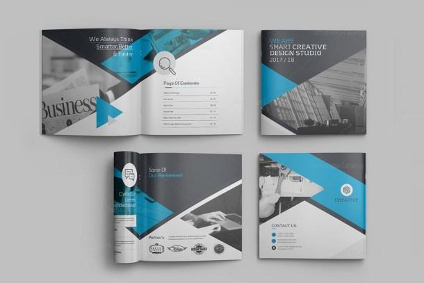 Professional Premium Square Magazine Template