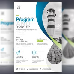 Program Stylish Professional Corporate Flyer Template