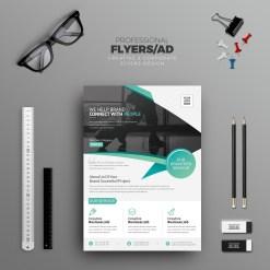 Typhoon Stylish Professional Corporate Flyer Template