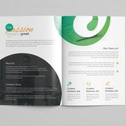 Venus Professional Bi-Fold Brochure Template