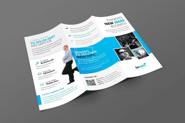 Zephyrus Modern Corporate Tri-Fold Brochure Template
