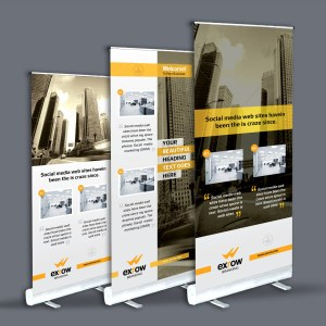 Flora Professional Roll-Up Banner Template