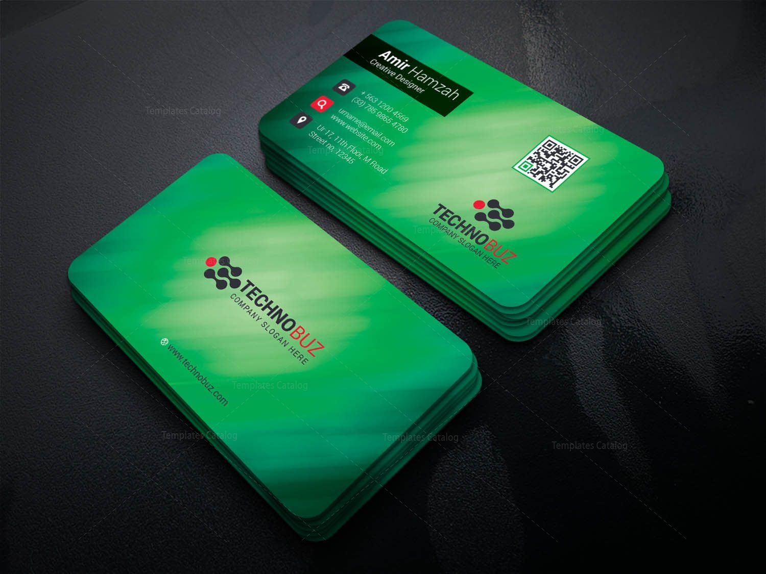 Olympian Professional Corporate Visiting Card Template