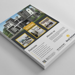 Open House Real Estate Flyer Design Template