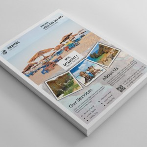 Stylish Travel Agency Flyer Template