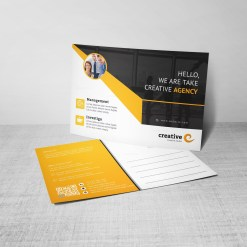 Ares Professional Corporate Postcard Template