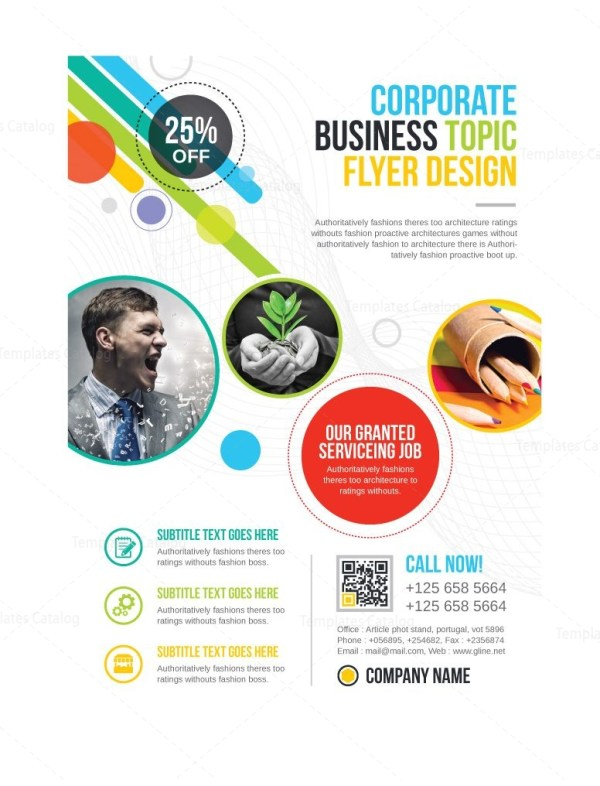 Athena Professional Business Flyer Design Template
