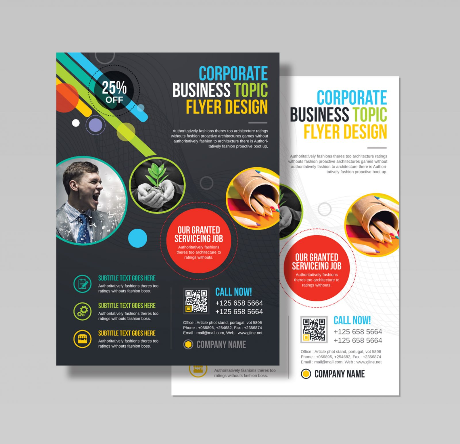 Athena Professional Business Flyer Design Template 001543