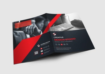 Chicago Corporate Presentation Folder Design Template