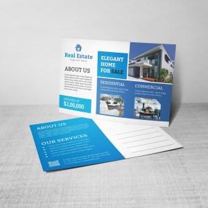 Creative Real Estate Postcard Design Template