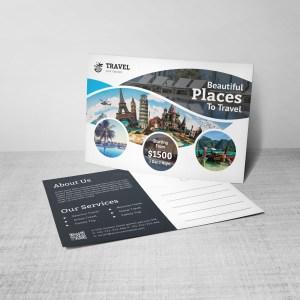 Creative Travel Postcard Template