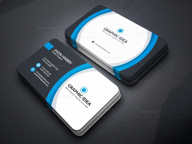 Eps Premium Business Card Design Template 001597 Template