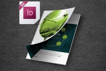 INDD Premium Business Bi-Fold Brochure Template