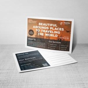 Modern Travel Postcard Design Template