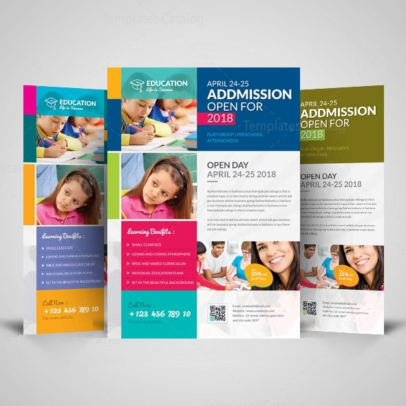professional school flyer design template 001515