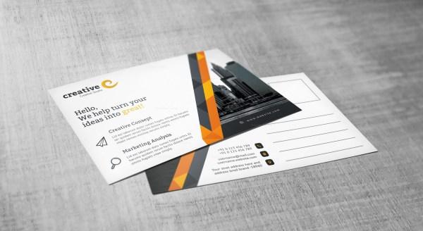 Stripe Professional Corporate Postcard Template