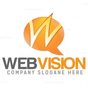 Web Vision Logo Design Template
