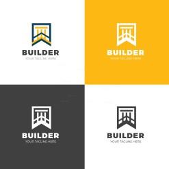 Builder Creative Logo Design Template