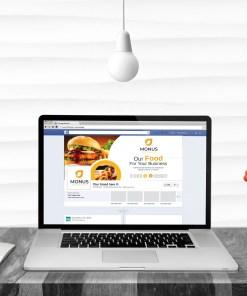 Burger Facebook Timeline Cover Template