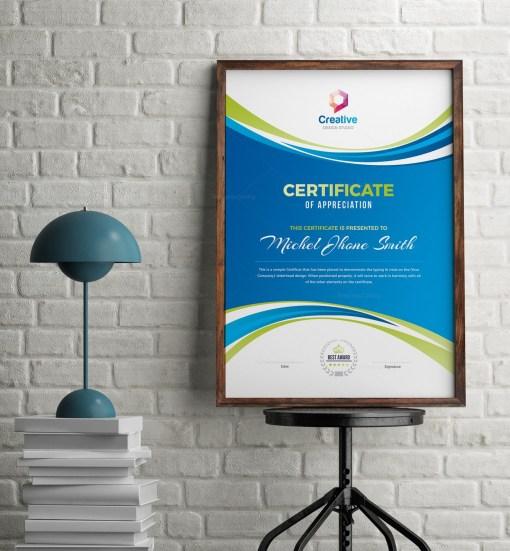 Creative Portrait Certificate Design Template