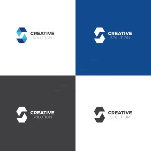 Creative Solution Logo Design Template