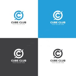 Cube Club Creative Logo Design Template