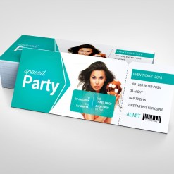 Foam Party Event Ticket Design Template