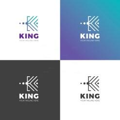 King Creative Company Logo Design Template